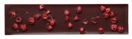 NO SUGAR. DARK CHOCOLATE 65% EXTRA-FINE PINK PEPPER CHIPS